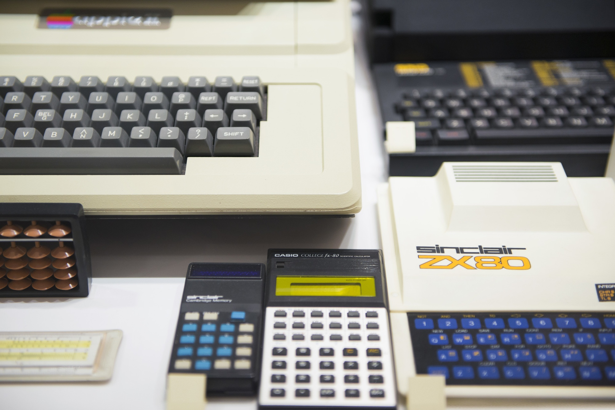 Various calculators and keyboards