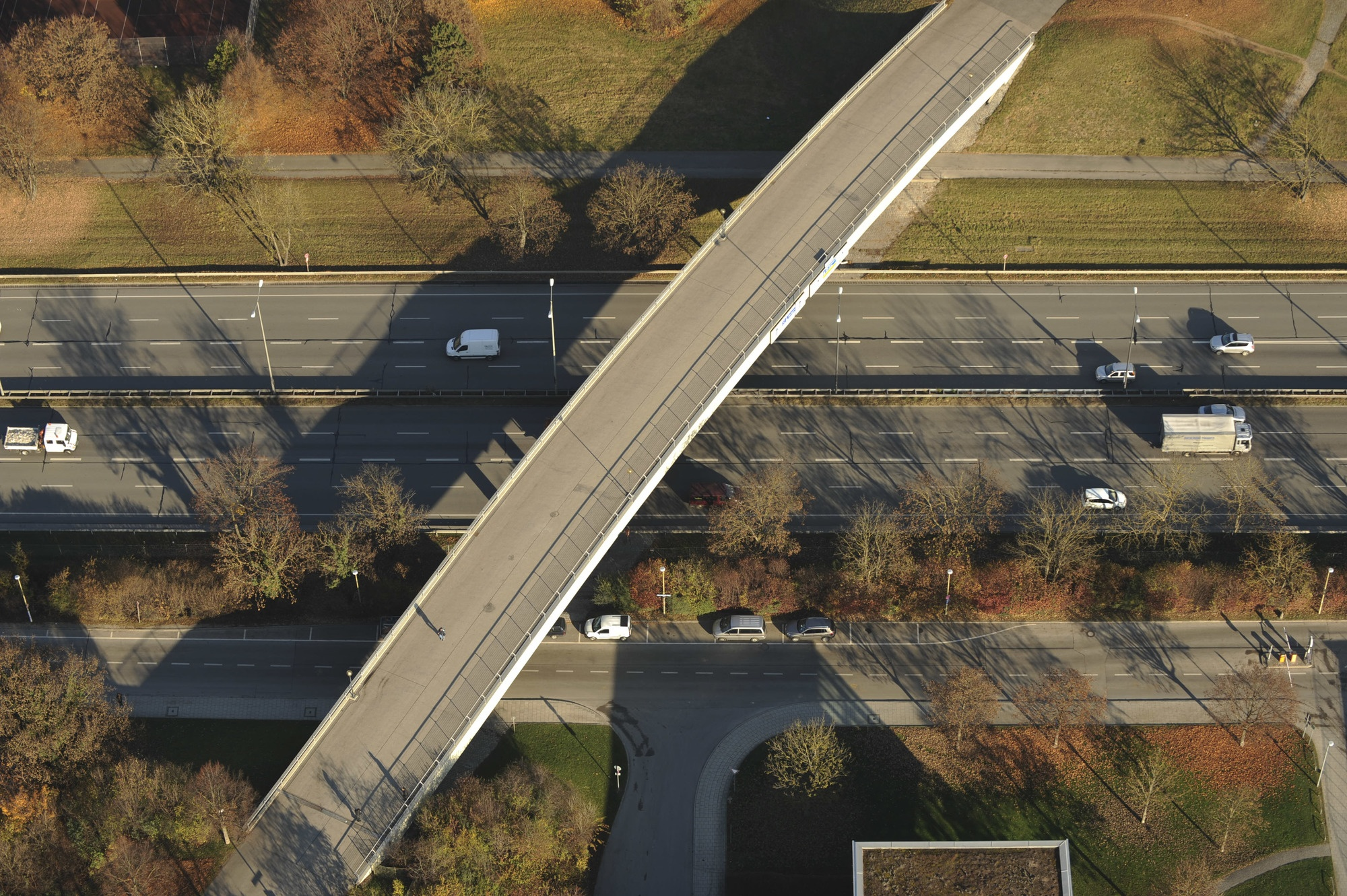 Aerial view of flyover