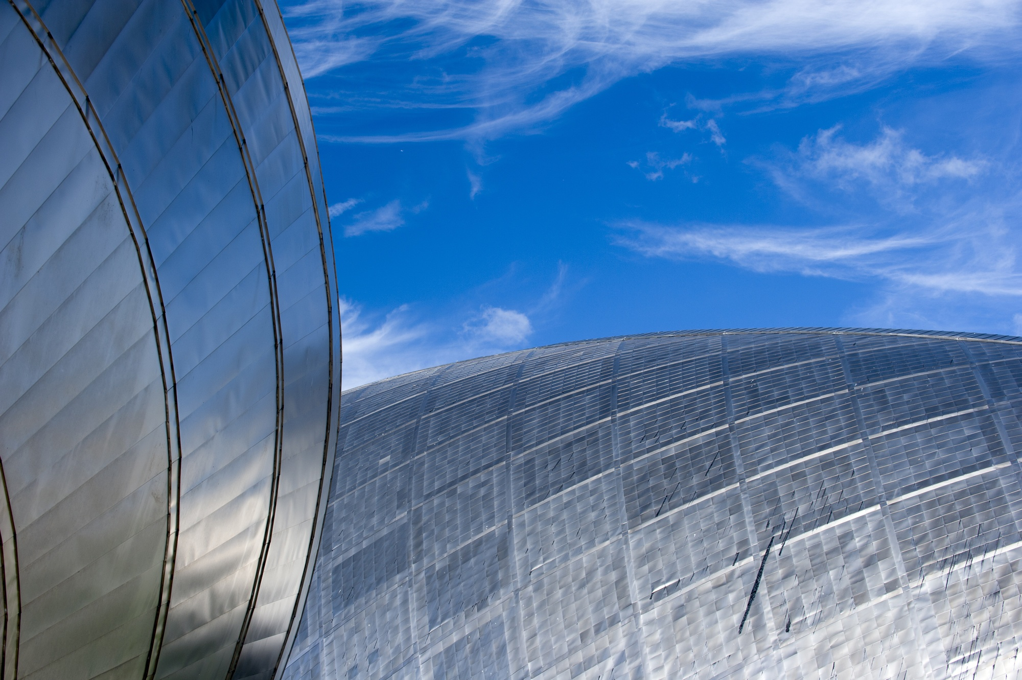 The IMAX and Glasgow Science Centre exterior