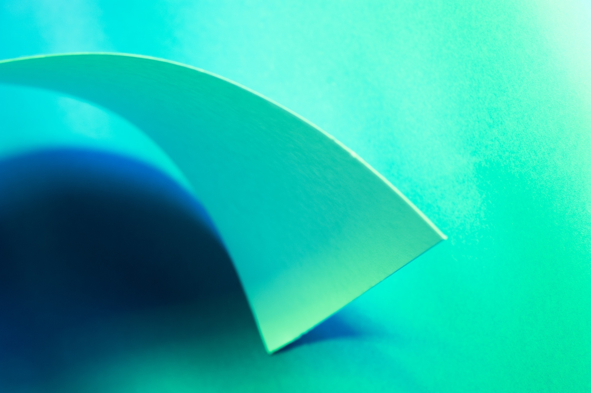 Green and blue study paper